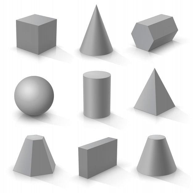 Solid figure geometriche solide